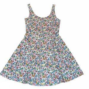 Divided H&M White Multi Color Floral Mini Dress